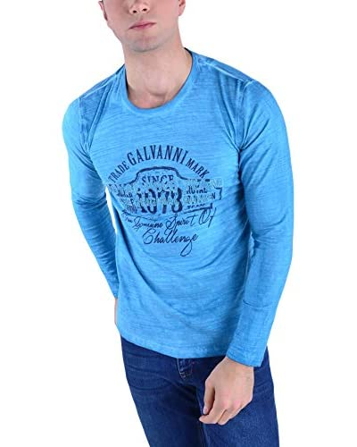 Galvanni Camiseta Manga Larga Soul Azul