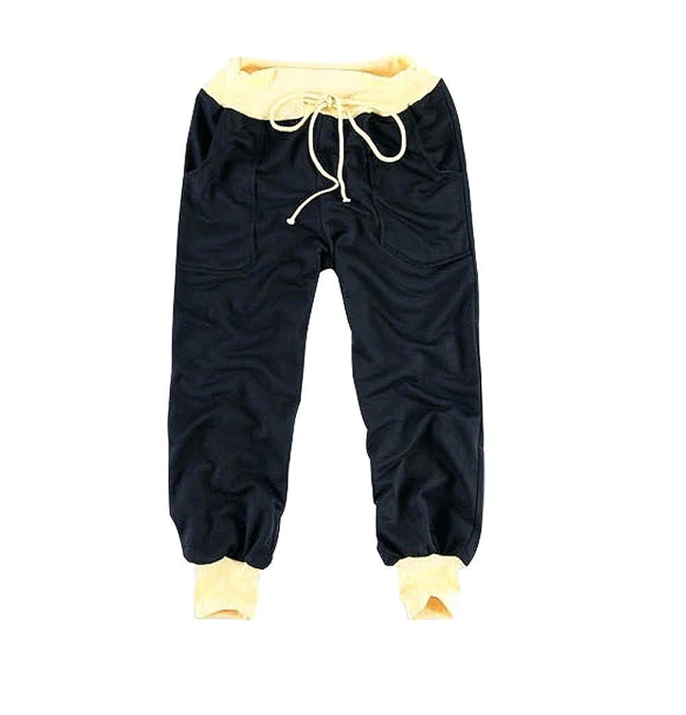 Meilaier Men's Capri Pants Cropped Pants Casual Slim Fit Harem Short Pant at Amazon Men's Clothing store