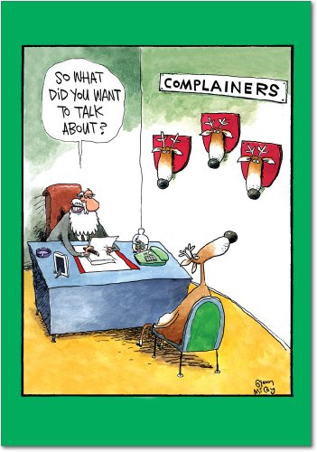 Set of 12 Complainers Christmas Greeting Cards