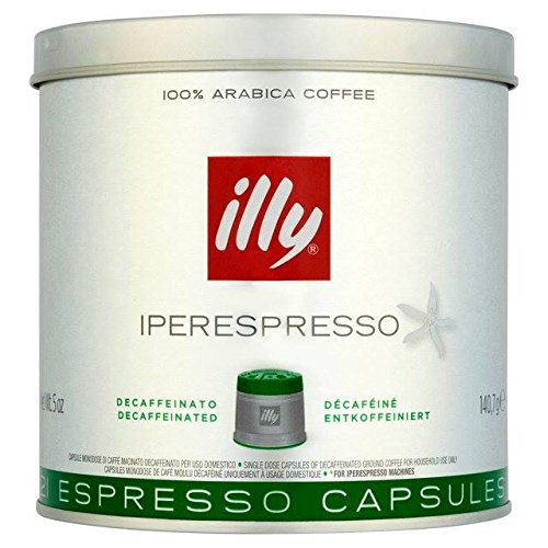 Choose illy Iperespreso Capsules Decaf 21 per pack from illy