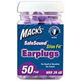 Macks Ear Care Slim Fit Soft Foam Earplugs, 50 Count