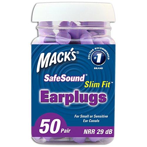 Mack's Ear Care Slim Fit Soft Foam Earplugs, 50 Pair (Ear Plugs Narrow compare prices)