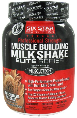 Six Star Pro Nutrition - Professional Strength Muscle Building Milk Shake Elite Series Decadent Chocolate - 2 Lbs.