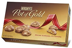 Hershey's Pot of Gold Pecan Caramel Clusters, 8.7-Ounce Boxes (Pack of 2)