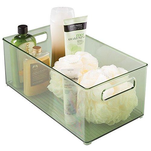 InterDesign Linus Bath Health and Beauty Supplies Organizer Binz 8 x 6 Deep Bin, Sage