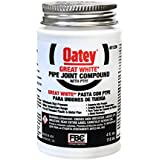 Oatey 31230 Pipe Joint Compound with PTFE with Brush, 4 fl.Ounce