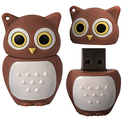 8 GB Novelty XYLO-FLASH Brown Owl Keyring USB 2.0 Memory Stick / Pen Storage Drive Compatible With PC / Mac. from XYLO ACCESSORIES