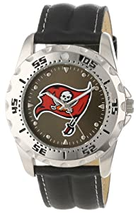 Game Time Mens NFL-WWG-TB Tampa Bay Buccaneers Analog Strap Watch and Wallet Set by Game Time