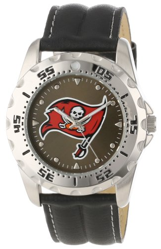 Game Time Men's NFL-WWG-TB Tampa Bay Buccaneers Analog Strap Watch and Wallet Set at Amazon.com
