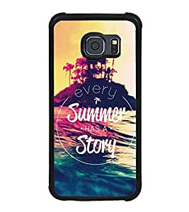 Fuson Premium 2D Back Case Cover Summer has a Story With Multi Background Degined For Samsung Galaxy S6::Samsung Galaxy S6 G920