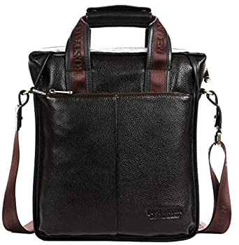Men's Luxury Soft Leather Cowhide Tote Classic Briefcase Shoulder Messenger Cross Body Top-handle Satchel Case