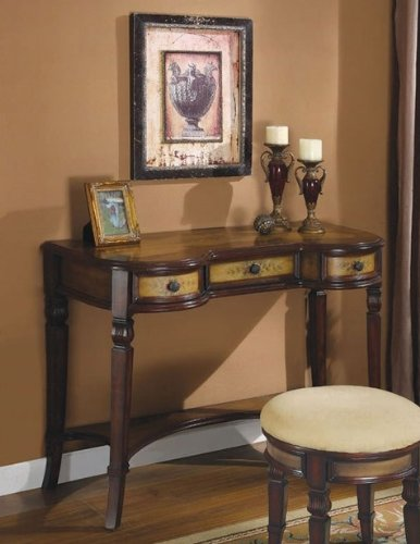 Cheap Console Table with Storage Drawers in Walnut Finish (VF_950061)