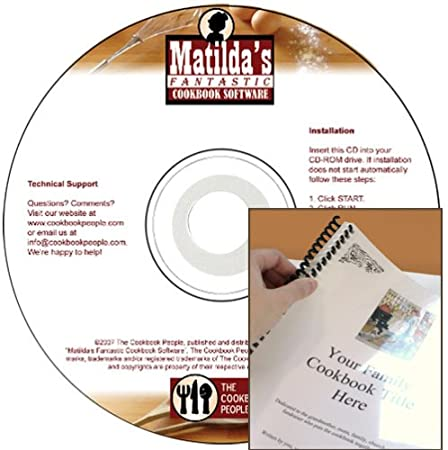 Matilda's Fantastic Cookbook Software 4.0 with Easy-Bind Kit
