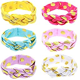 Mookiraer® Baby Girl Newest Turban Headband Head Wrap Knotted Hair Band (PH446A)