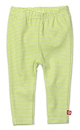 Zutano Unisex Baby Candy Stripe Skinny Leggings (Baby) - Lime - 6 Months