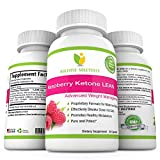 Potent Raspberry Ketone with African Mango, Acai Berry, Green Tea Extract, Resveratrol, Apple Cider Vinegar and Kelp - Advanced Weight Management, Dietary Supplement, 60 Capsules