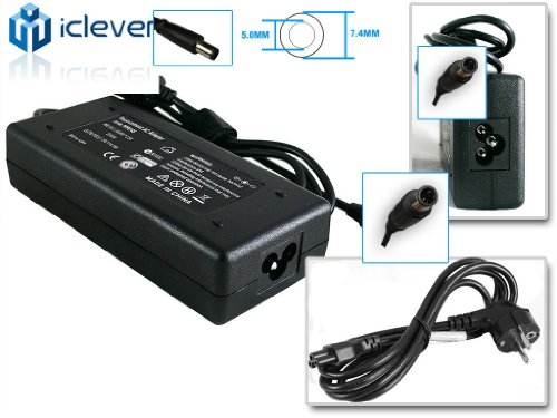 iClever® 19.5V 4.62A 90W Replacement Dell PA10 PA-10 Laptop Ac Adapter Charger Power Supply For Dell Inspiron 1720 1721& Dell Vostro 1700,1710, 1720+Free UK Mains Lead