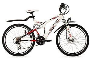 """Mountainbike ATB Fully 26"""" Zodiac weiß RH 48 cm KS Cycling by KS Cycling"""