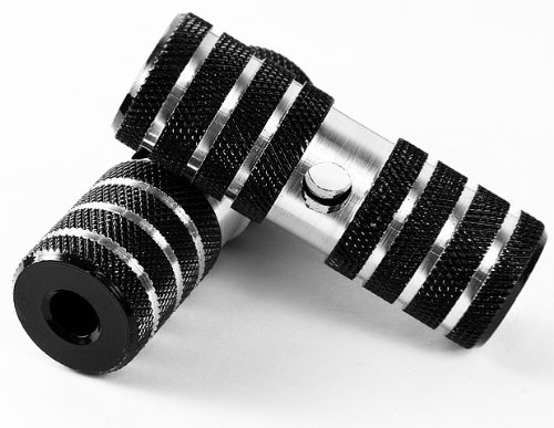 Universal Black & Chrome Bike Bicycle Pegs Bmx Cycling Accessories Parts Light Weight Alloy