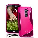 Ownstyle4you Custodia Case Cover Copertina in silicone S-Line Pink per il LG G2 Mini incluso pellicola di protezione...