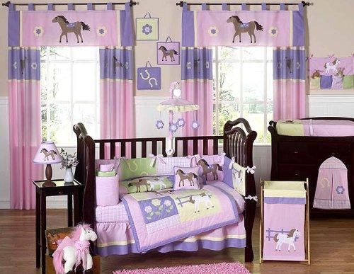 Pretty Pony Horse Baby Bedding 9pc Crib Set