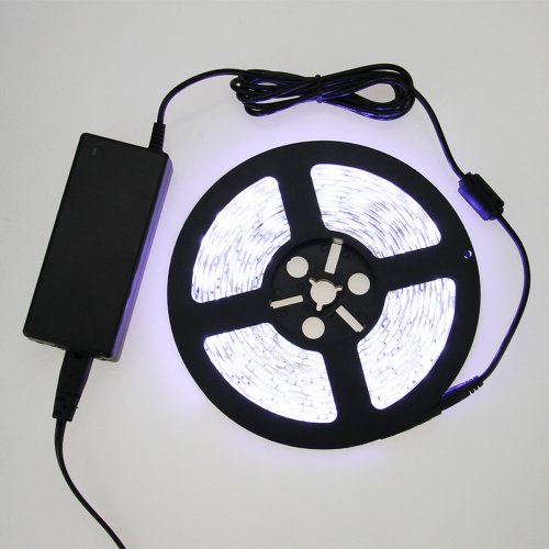 Muchbuy Waterproof 16.4 Feet 5050 Pure White Smd 300 Leds Flexible Led Strip Lamp Kit Include 72W 5A Ul Listed Power Supply Adapter