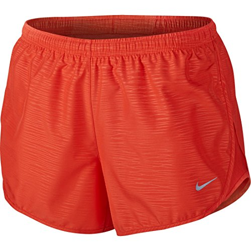 Nike Womens Embossed Shorts - Red - Large