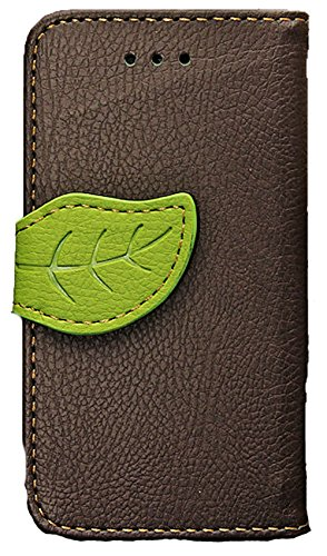 Mylife (Tm) Forest Floor Brown And Green -Natural Design - Textured Koskin Faux Leather (Card And Id Holder + Magnetic Detachable Closing) Slim Wallet For Iphone 5/5S (5G) 5Th Generation Itouch Smartphone By Apple (External Rugged Synthetic Leather With M