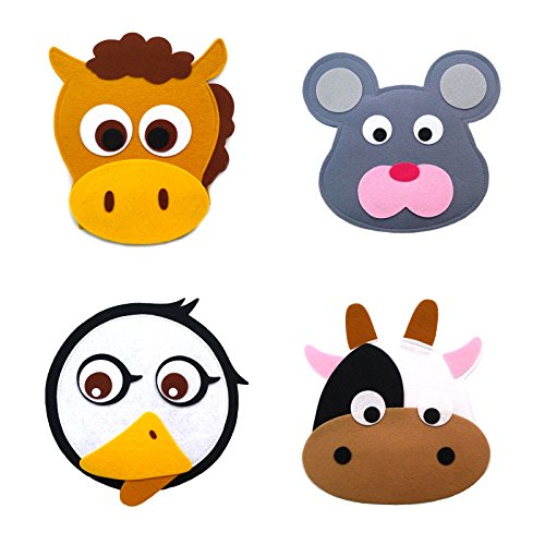 Animal Headband masks horse+mouse+white duck+cow
