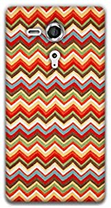 The Racoon Lean Summer Chevrons hard plastic printed back case / cover for Sony Xperia SP
