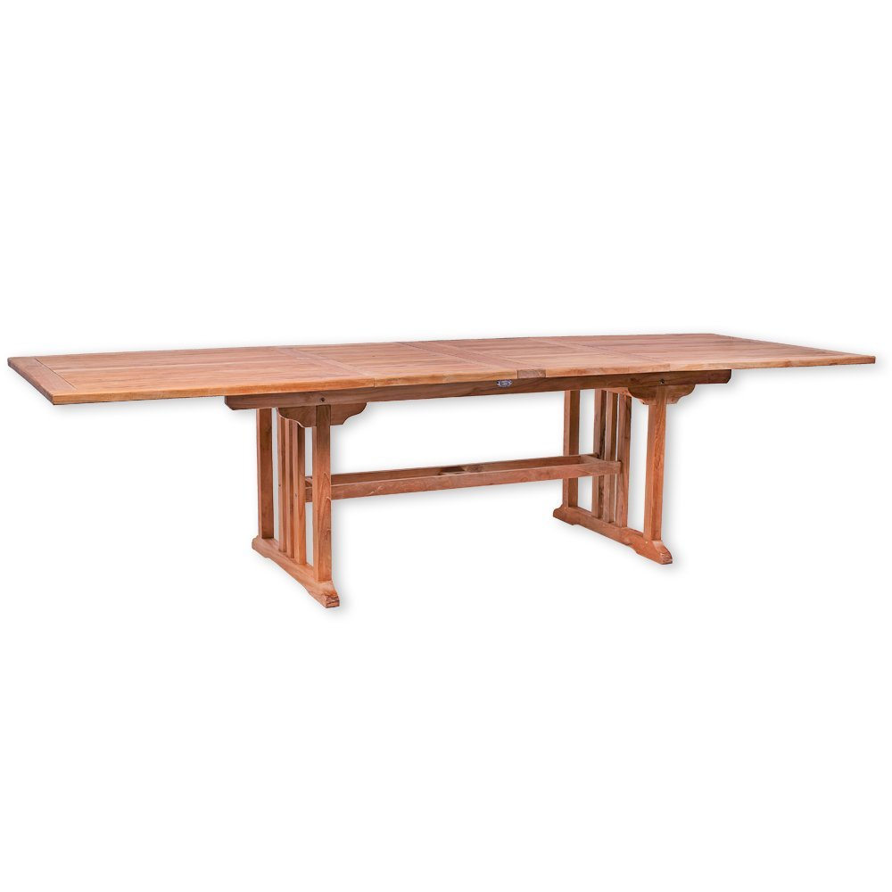 Gartentisch MALANG eckig, ausziehbar 200 - 300 cm Esstisch Teakholz Tisch Gartenmöbel Premiumqualität