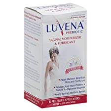 Luvena Vaginal Moisturizer & Lubricant, Prebiotic, Pre-Filled Applicators, 6 applicators