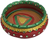 Vidhshee Creation Clay Decorative Diya Bowl (20.32 cm x 30.48 cm)