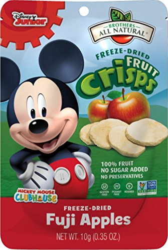 Brothers-ALL-Natural Fruit Crisps, Mickey Mouse Apple, 0.35 Ounce (Pack of 24) (Freeze Dried Fruit Disney compare prices)