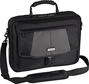 "Targus Blacktop Deluxe 17"" Laptop Case with Dome Protection, Black/Gray (CPT401DUS)"