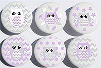 Owl Drawer Pulls / Owl Ceramic Drawer Knobs, 6 Set from Presto Chango Decor, inc.