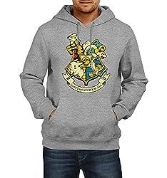 Fanideaz Men's Cotton Gotta Catch'Em All School Pokemon Hoodies For Men (Premium Sweatshirt)_Grey Melange_M