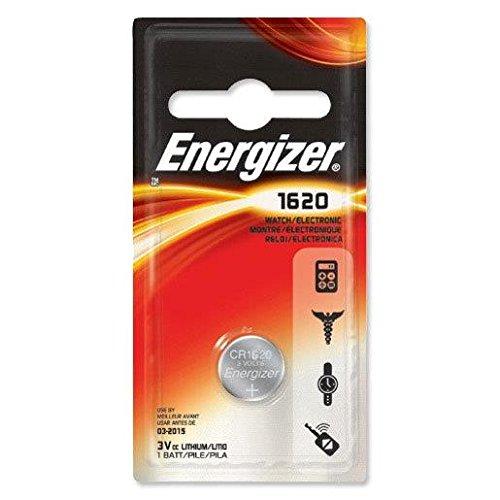 ENERGIZER Cr1620 DL1620 Lot de 2 piles boutons au lithium pour clés de voiture 3 V