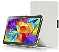 IVSO Samsung Galaxy Tab S 10.5 Ultra-Thin Slim Smart Cover Case -will only fit Samsung Galaxy Tab S 10.5 Tablet (White) from Gambolex
