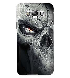 ColourCraft Stone Face Design Back Case Cover for SAMSUNG GALAXY E7