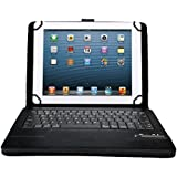 IVSO KeyBook Bluetooth Keyboard Case for Linx 10-Inch Tablet - with Removable Keyboard (Black)