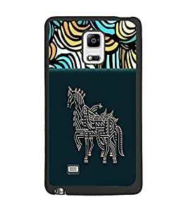 PrintDhaba Artwork D-4709 Back Case Cover for SAMSUNG GALAXY NOTE EDGE (Multi-Coloured)