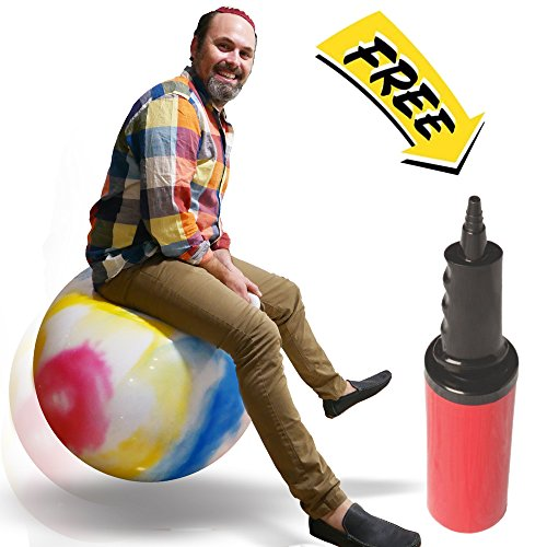 WALIKI TOYS Tie Dye Adult Size Hopper Hoppity Hippity Ball: Rainbow Hippie New Age