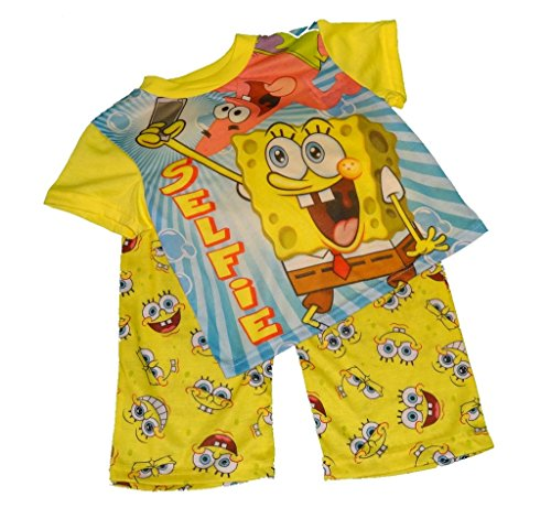 Spongebob Squarepants Selfie Boys 2 Piece Pajama Set