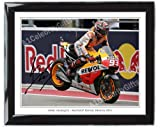 FRAMED Marc Marquez 2014 #1 8 x 10 Signed Lab Quality Photoprint, featuring printed signatures of the rider, framed in a superb black frame...MotoGP Honda Yamaha Monster TECH3 Ducati