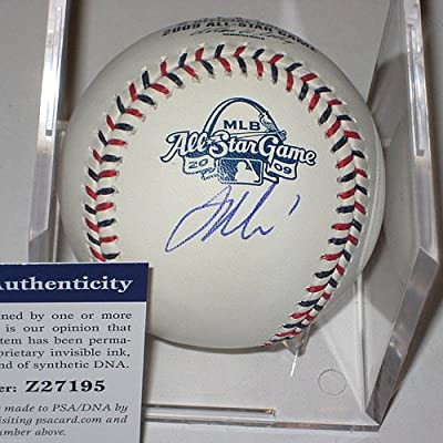 Joe Mauer Autographed Minnesota Twins Official Major League Baseball - PSA/DNA