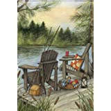 Lakeside Outdoors House Flag Adventure Decorative Banner