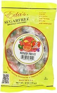Eda's Sugar Free Hard Candy Mixed Fruit, 6-Ounce