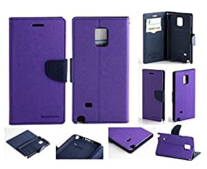 Aart Fancy Diary Card Wallet Flip Case Back Cover For Samsung Note 3 - (Purple) + 360 Rotating Bed Tablet Moblie Phone Holder Universal Car Holder Stand Lazy Bed Desktop for by Aart store.
