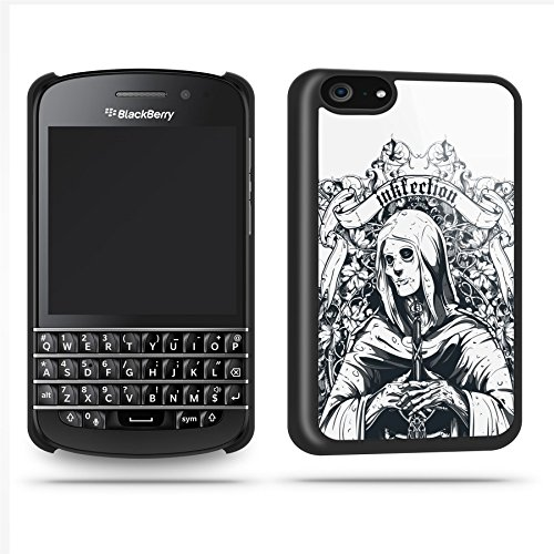 Tattoo Woman Black Case Shell Cover Phone Case Shell For Blackberry Q10 - Black